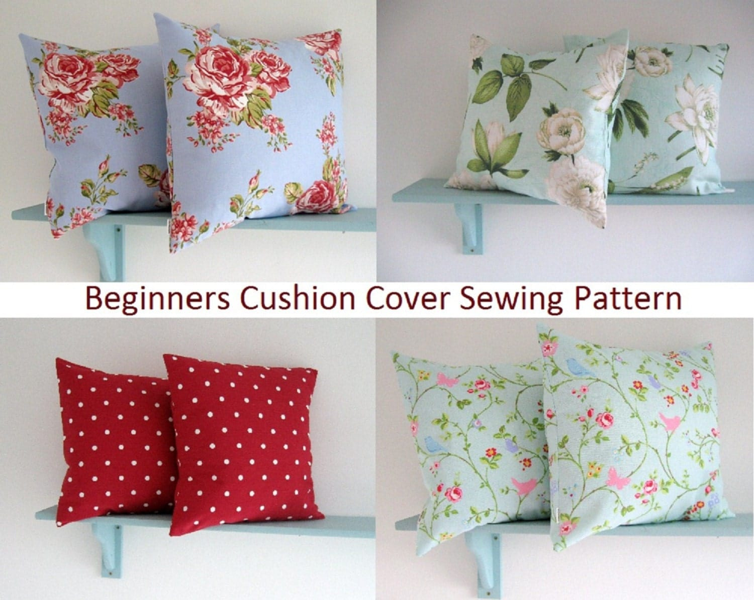 PDF Sewing Pattern Simple Envelope Cushion Cover
