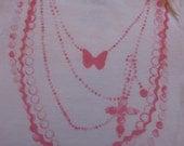 Jeweled Onesie- White- 3-6 mths