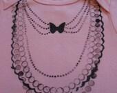 Jeweled Onesie- Pink- 3-6 mths