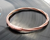Recycled PIANO String Bracelet copper colored Mens or Womens Custom orders are always welcome OOAK Musician or teacher Gift