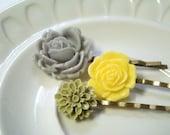 Lemon Drops. Hair Pins
