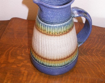 Large Signed Pottery Pitcher Raquel Perez