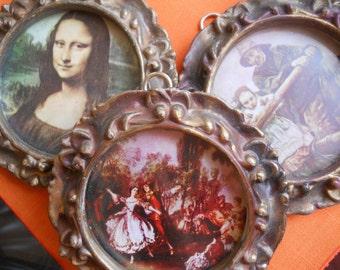 Miniature Gesso Framed Prints