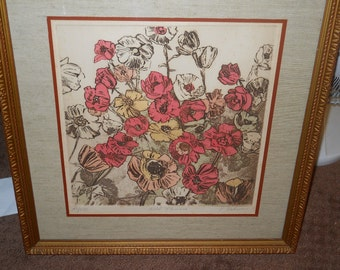 Elizabeth Delson etching NY Arist 1932-2005