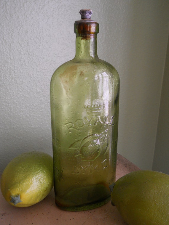 Old Royall Lime Bottle from England