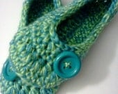 Women's Crochet Turquoise Slippers | Green And Turquoise Crochet Slippers | Hand Crochet Slippers | House Shoes | Crochet Booties | Slippers