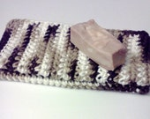 Dish Cloths.....set of 2 in Brown and White