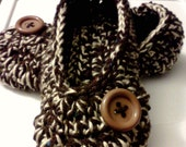 Women's Crochet Brown Slippers | Brown and Cream Crochet Slippers | Hand Crochet Slippers | House Shoes | Crochet Booties | Slippers