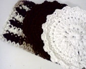 Gift Set....in Chocolate Brown and White.