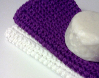 Dish/Facial Cloths.....set of 2 in Purple and White