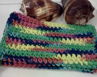 Dish/Facial Cloths.....set of 2 in Deep Dark Rainbow