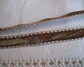 Brown Double Stiched Velvet