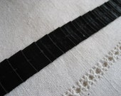 Black Satin Pleats 5/8 inch Ribbon 1 Yard