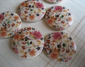 Painted Wooden Buttons set of 6