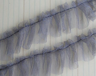 Pleated Tulle Earl Grey 1 yard
