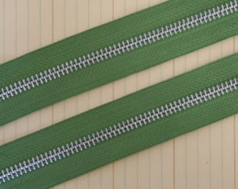 Zipper Trim by the yard Leaf Green