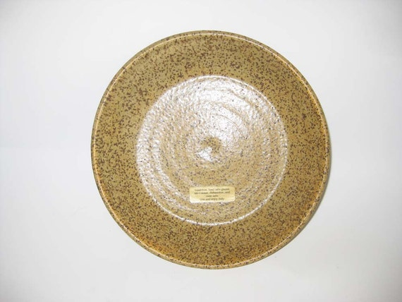 Tan Speckled Stoneware Pie Plate