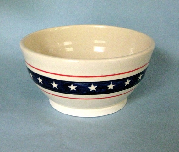 Custom Pair of Patriotic Bowls For Marc Cullison
