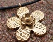 Bronze Double Flower Necklace