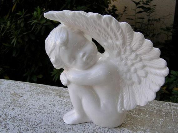 Glazed Sleeping Desk Angel Left