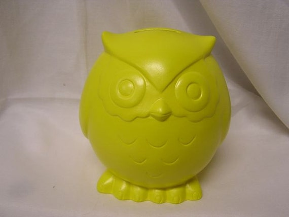SALE 50% OFF Baby Owl Bank Sunbright Yellow