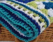 Sea Scape Blues and Greens Little Afghan for Little Boys