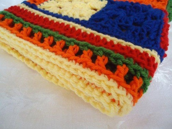 Little Blanket in Bright Colors for Boys, Girls or Babies to Love
