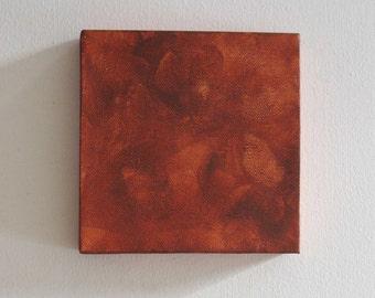 Living Room Decor - Modern Room Decor - Mini Canvas Art Square - Burnt Sienna