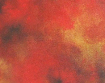 Modern Painting- Abstract Modern Painting - Original Modern Painting - Red Painting- Metallic Gold Painting -