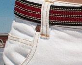 Retro 80s-style Striped Elastic Belt