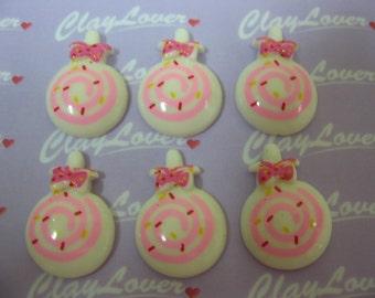 10 pcs. Candy or Lollipop Resin Cabochon (XH-267)