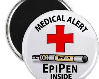 EpiPen Inside Medical Alert Warning Magnet