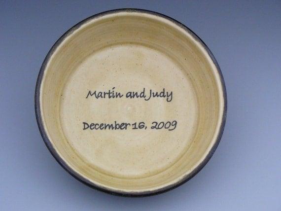 Celebration Plate / Deep Dish Pie Plate - Wedding, Anniversary, Birthday... - Custom