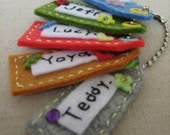 Free shipping! 3 Eco-friendly Felt Name Tags - Fun set for gifts, parties, or just plain fun