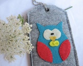 Free Shipping!  Bow tie owl--Luggage ID,Personal tag,Gift tag or Picture carrier