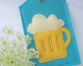 Free shipping! Oktoberfest Foaming Beer--Luggage ID,Personal tag,Gift tag or Picture carrier
