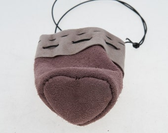 Leather Valentine gift pouch
