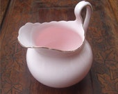 Vintage Bone China Pink and Gold Gilt Fluted Milk or Cream Jug - FREE SHIPPING