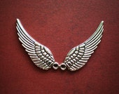 12 silver wing charms angel bird charms