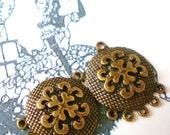 6  bronze Earring chandelier jewelry finding 23mm 29mm