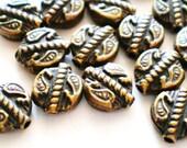 Spacer beads 36 tibet antique bronze diy jewelry making supplies 7mm zxa