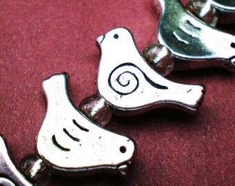 10 bird bead jewelry charms 10x15mm supplies