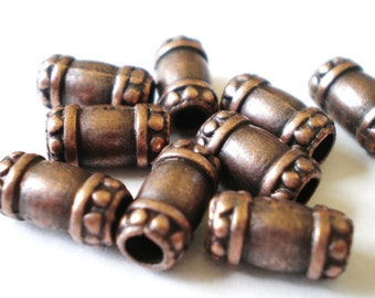 30 red copper spacer beads 5mm 10mm supplies