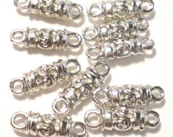 10 Silver Jewelry Connectors  5x17x1.8mm jewelry art supplies