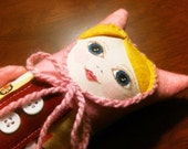 RESERVED Pink Nadia Doll for Lisa