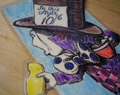 SALE - The Mad Hatter's Story Bookmark (laminated)