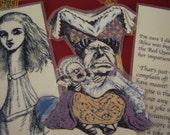 SALE - Set Three Alice in Wonderland - Set of 3 Bookmarks (laminated)