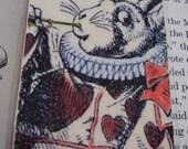 White Rabbit Hearts and Tarts (laminated)