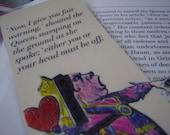 Queen of Hearts Fair Warning Bookmark (laminated)