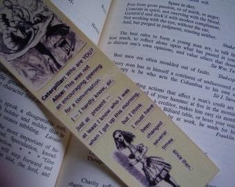 Alice and the Caterpillar Bookmark (laminated)